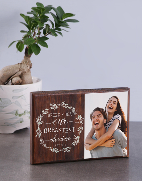 home-decor: Personalised Greatest Adventure Photo Block!
