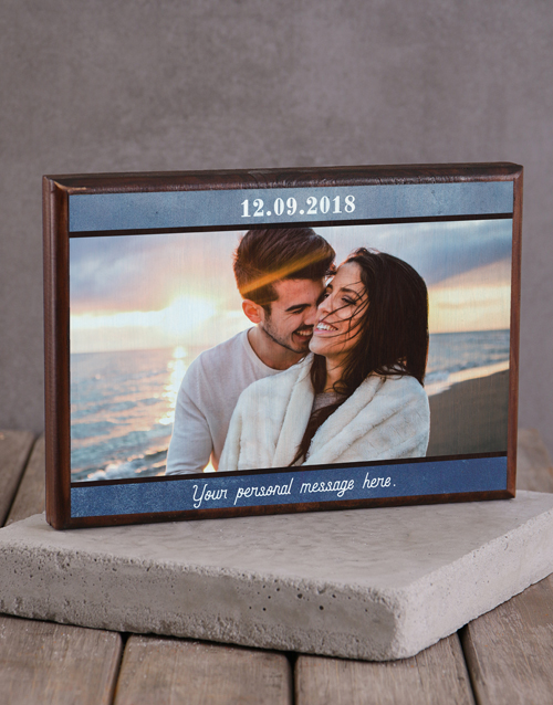 home-decor: Personalised Date and Message Printed Photo Frame!