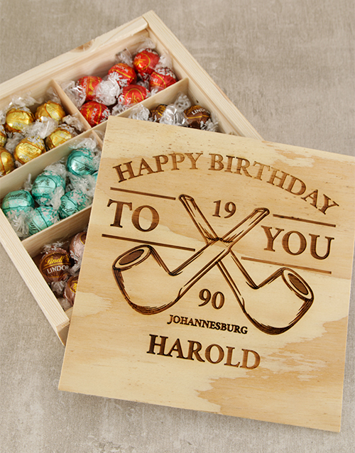 Chocolate Gift Boxes South Africa : Buy personalised pipe birthday box netflorist