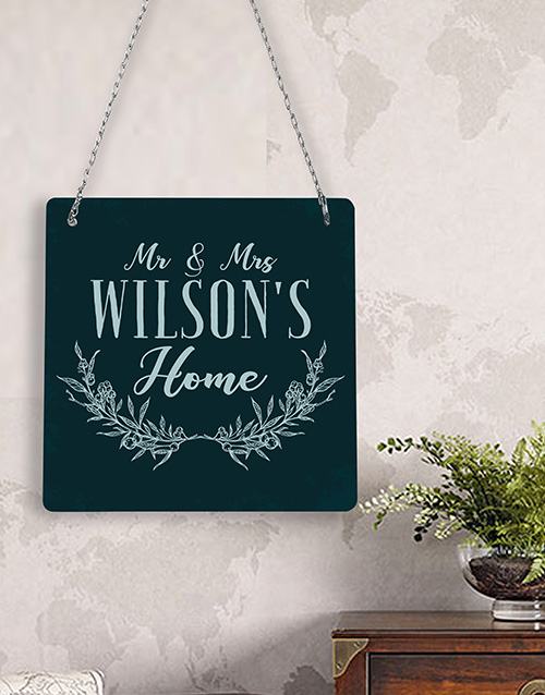 personalised: Personalised Mr & Mrs  Metal Sign !
