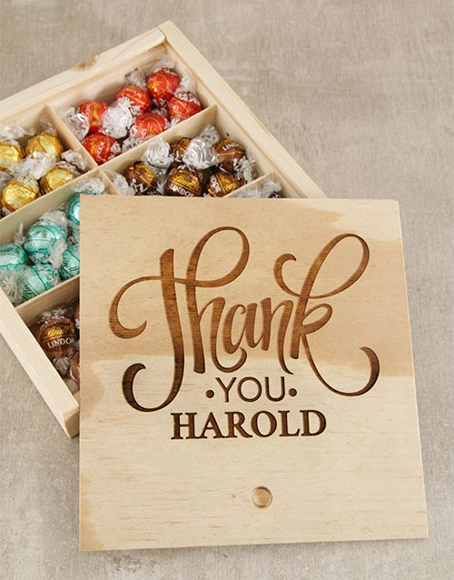 Chocolate Gift Boxes South Africa : Buy personalised thank you choc treasure box