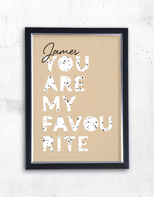 home-decor: Personalised Favourite Framed Wall Art!