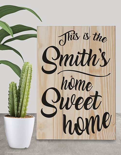 house-warming: Personalised Home Sweet Home Wall Art!