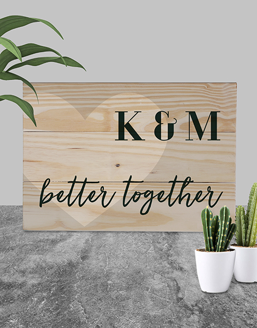 home-decor: Personalised Better Together Wall Art!
