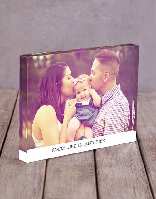 home-decor: Personalised Happy Time Acrylic Block!