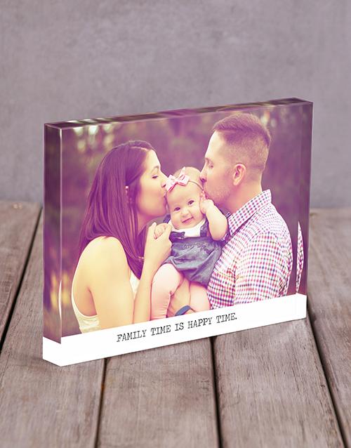 personalised: Personalised Happy Time Acrylic Block!