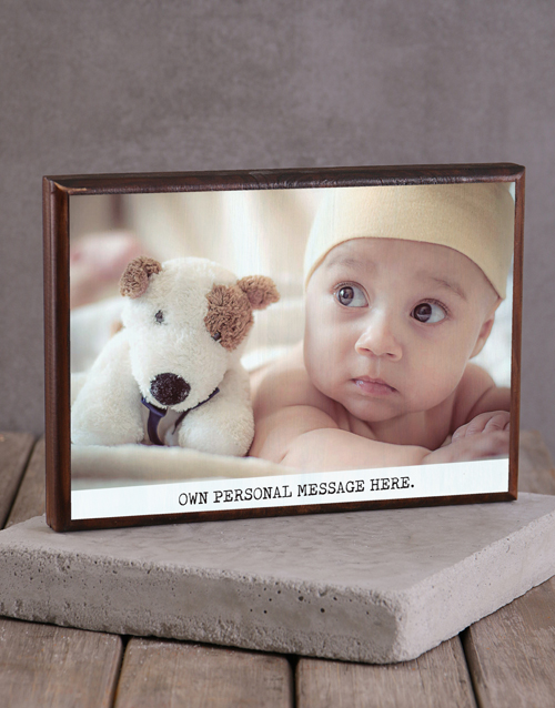 home-decor: Personalised Message Wooden Block!