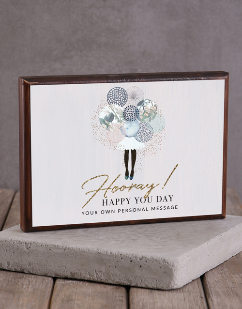 home-decor: Personalised You Day Wooden Block!