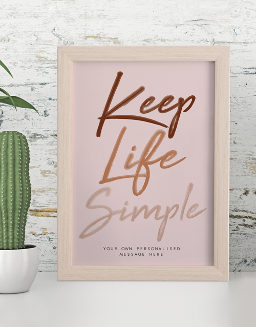 personalised: Personalised Simple Life Framed Wall Art!