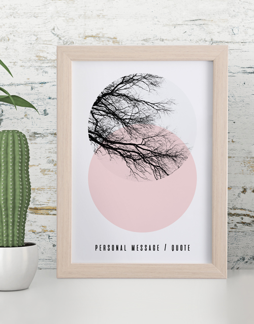 personalised: Personalised Blush Branch Framed Wall Art!