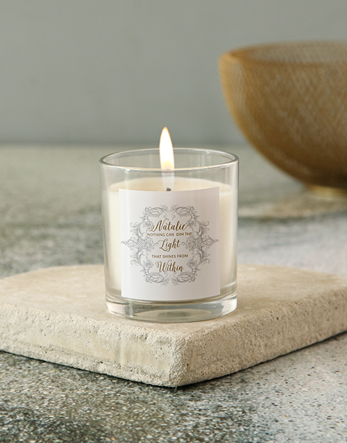 personalised: Personalised Shines Within Candle!
