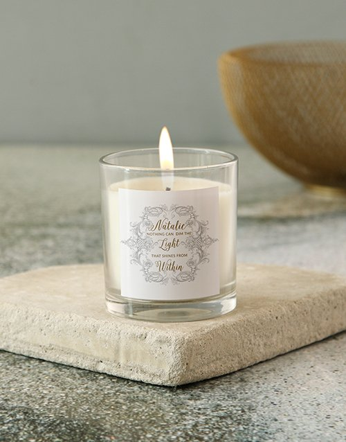 bath-and-body: Personalised Shines Within Candle!