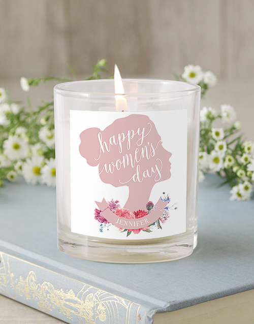 bath-and-body: Personalised Silhouette Rose Candle!