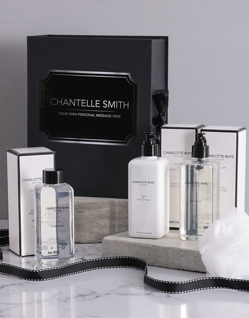 bosses-day: Personalised Charlotte Rhys Bath Gift Box!