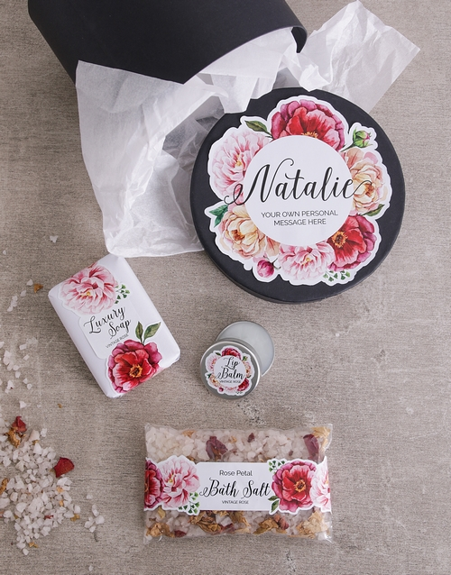 year-end: Personalised Peony Bath Gift Box!