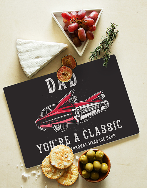 fathers-day: Personalised Classic Dad Glass Chopping Board !