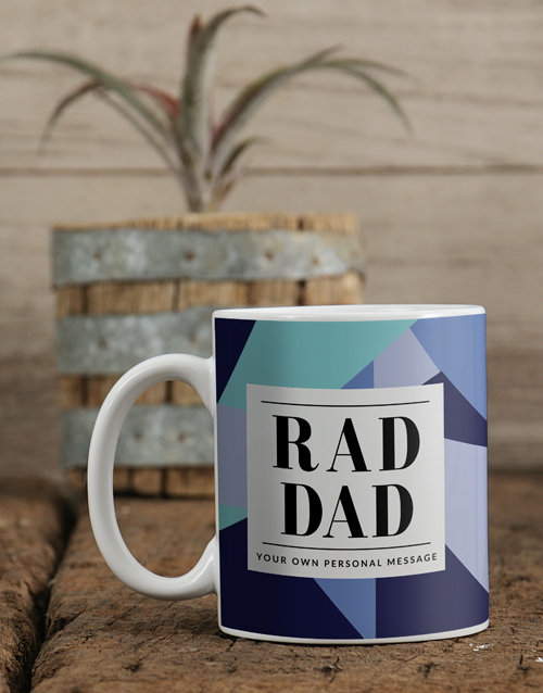 fathers-day: Personalised Blue Rad Dad Mug!