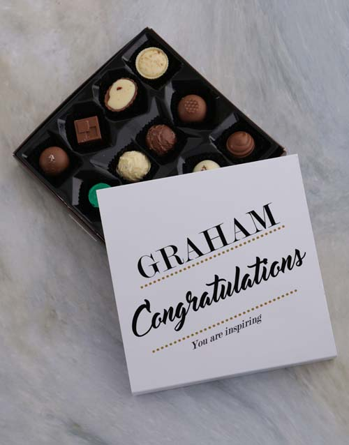 chocolate: Personalised Proud Congrats Tray!