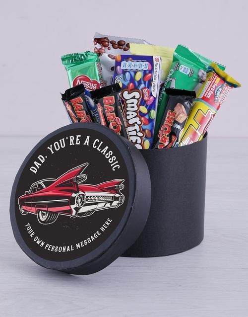 chocolate: Personalised Classic Dad Chocolate Hat Box!