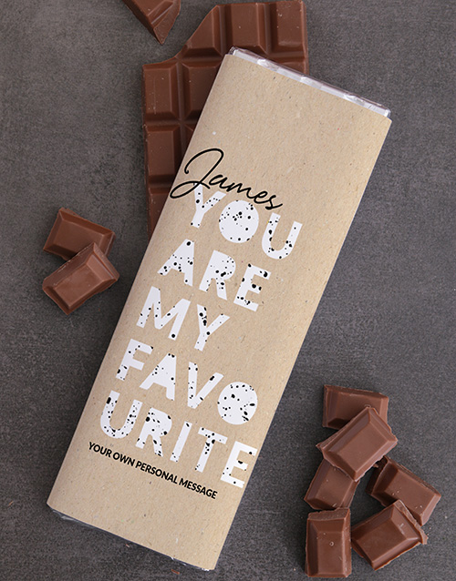 gifts: Personalised Favourite Chocolate Slab!