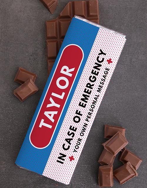 personalised: Personalised Emergency Chocolate Slab!