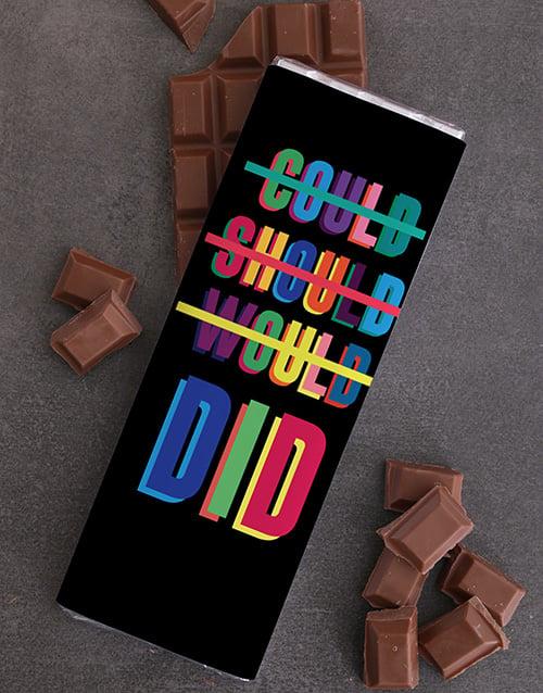 congratulations: Personalised Neon Chocolate Slab!