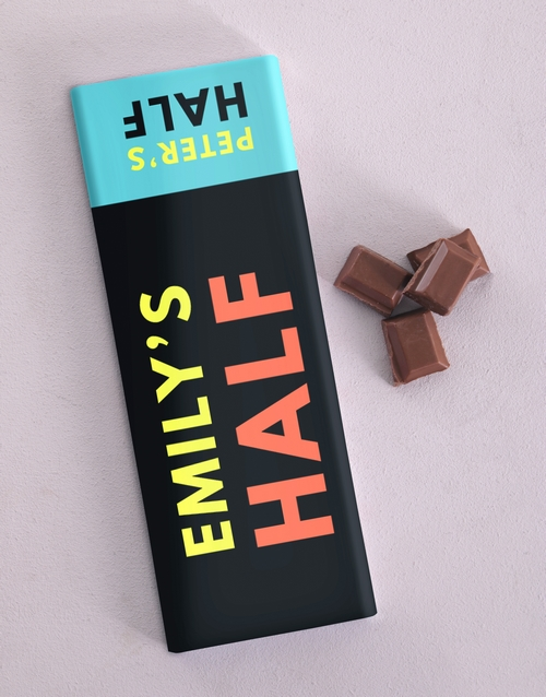 chocolate: Personalised Half Chocolate Slab!