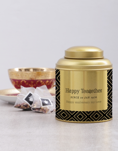 personalised: Personalised Happy Teagether Tea Tin !