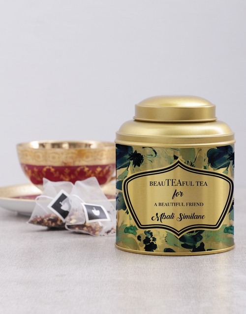 personalised: Personalised Beautiful Friend Tea Tin !