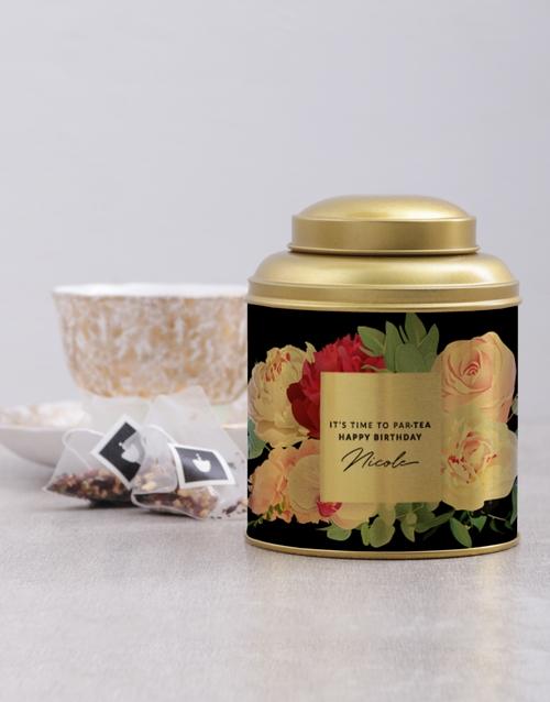 personalised: Personalised Partea Time Tea Tin!
