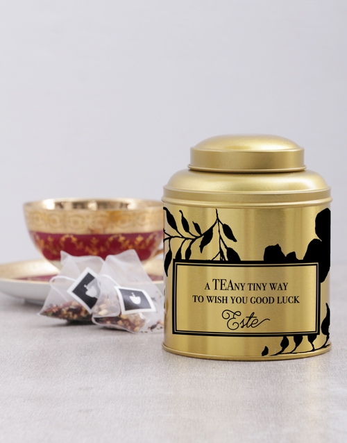 personalised: Personalised Good Luck Tea Tin!