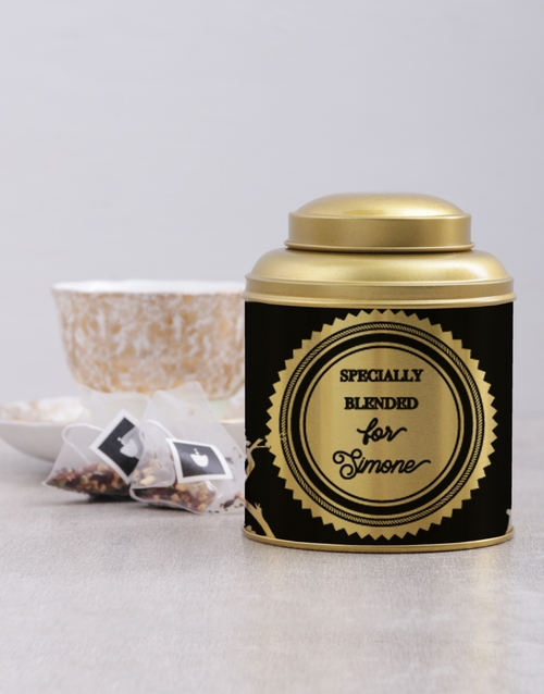 mothers-day: Personalised Specially Blended Tea Tin!