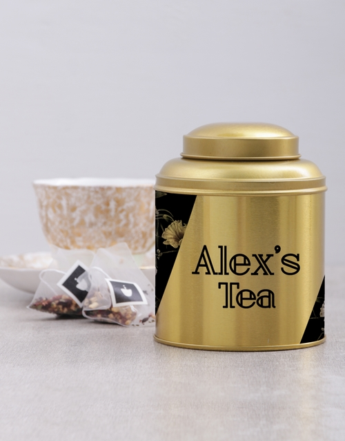house-warming: Personalised Floral Tea Tin!