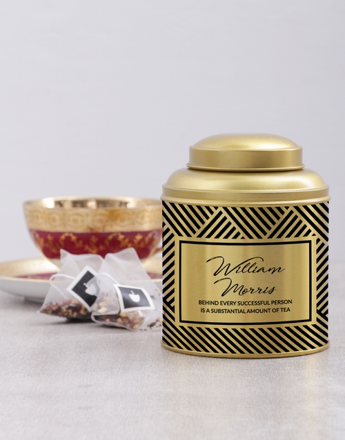 personalised: Personalised Successful Person Tea Tin!