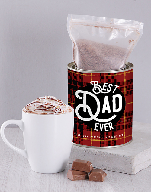 coffee-and-tea: Personalised Best Dad Hot Chocolate Tin!