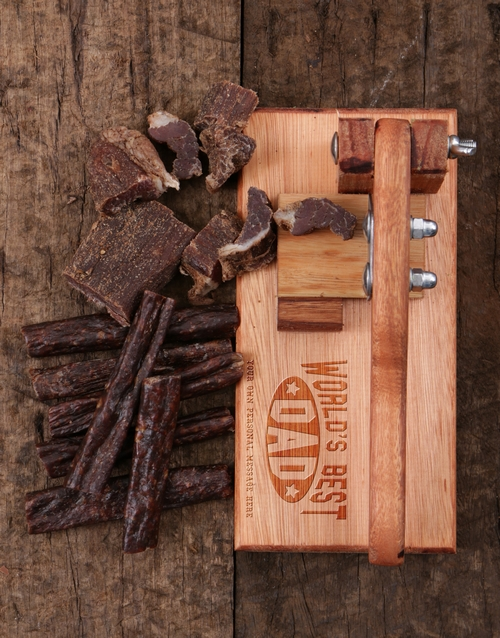 fathers-day: Personalised Best Dad Biltong Cutter!