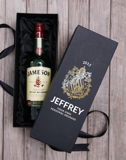 anniversary: Personalised Jameson Whiskey Box!