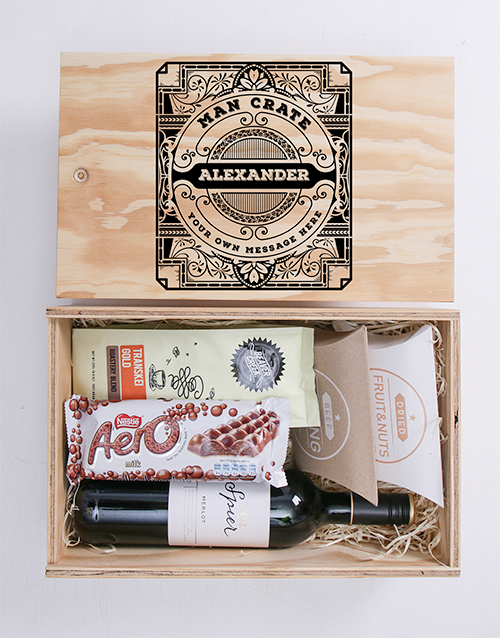 birthday: Personalised Classic Man Crate!