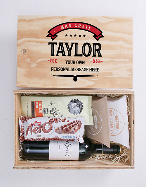 congratulations: Personalised Vintage Man Crate!