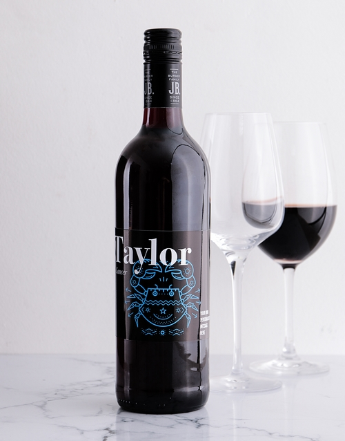 fine-alcohol: Personalised Zodiac Water Signs Wine!