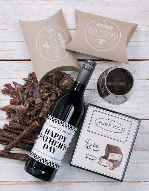 fathers-day: Personalised Monochrome Father Gourmet Hamper!