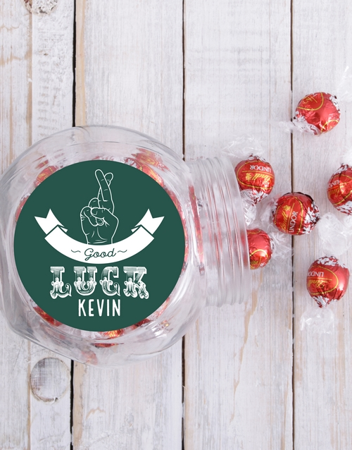 candy-jars: Personalised Good Luck Candy Jar!