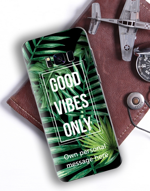 personalised: Personalised Good Vibes Samsung Cover!