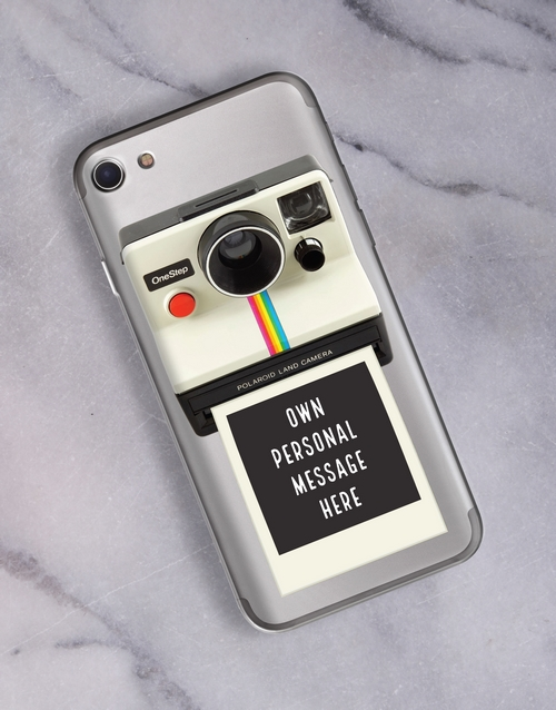 personalised: Personalised Polaroid iPhone Cover!