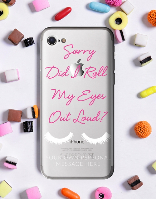 personalised: Personalised Eyeroll iPhone Cover!