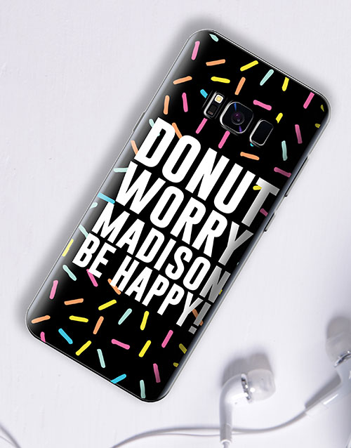 personalised: Personalised Donut Samsung Cover!