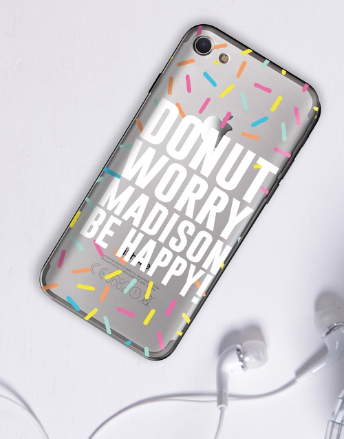 personalised: Personalised Donut iPhone Cover!