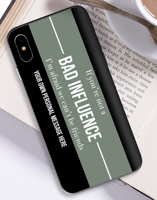 personalised: Personalised Bad Influence iPhone Cover!