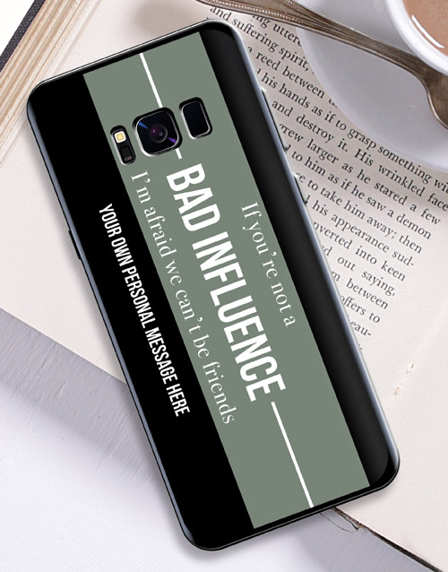 personalised: Personalised Bad Influence Samsung Cover!