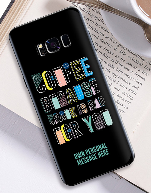 personalised: Personalised Coffee Samsung Cover!